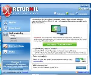 Returnil System Safe - работа на компьютере в виртуальном режиме