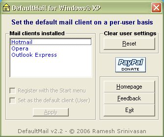 DefaultBrowser / DefaultMail
