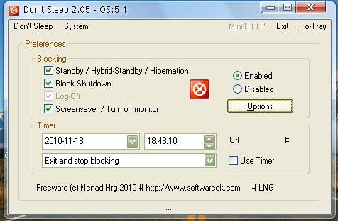 Запуск / закрытие системы / приложения в указанное время