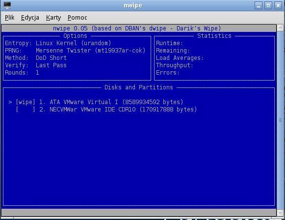 Parted Magic: стирание диска и разделов