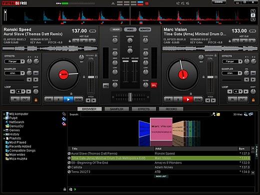 Микширование музыки в Virtual DJ Home